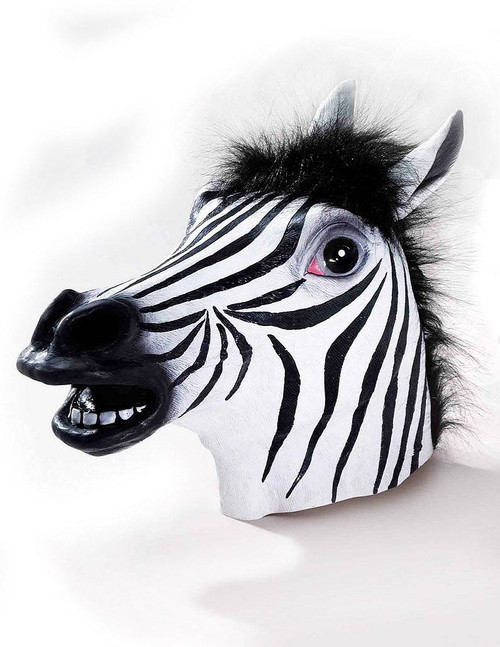 Deluxe Zebra Latex Mask