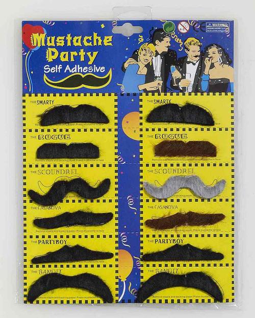 Moustache Assortment 12 Styles