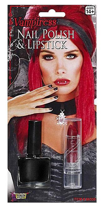 Vampire Lipstick and Nail