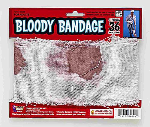 Bloody bandage gauze 15' x 4''