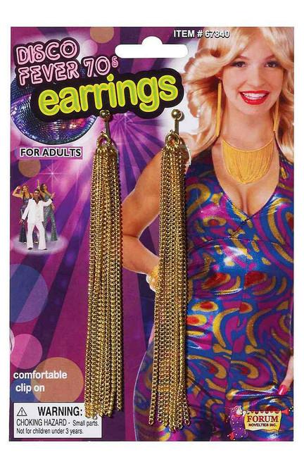 70's Disco Gold Chain Earrings