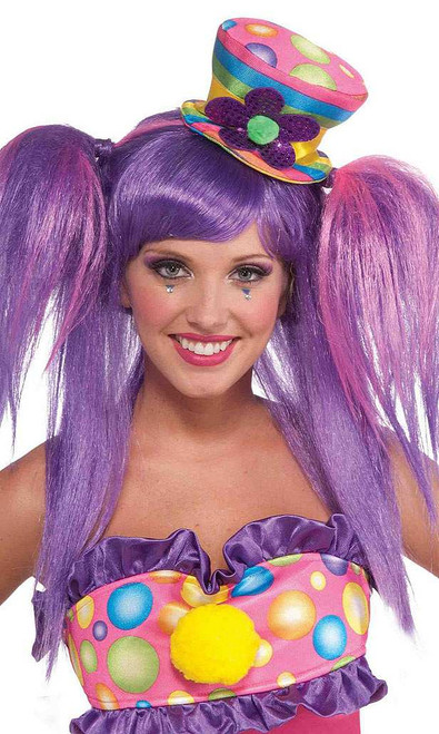 Circus Clown Mini Top Hat