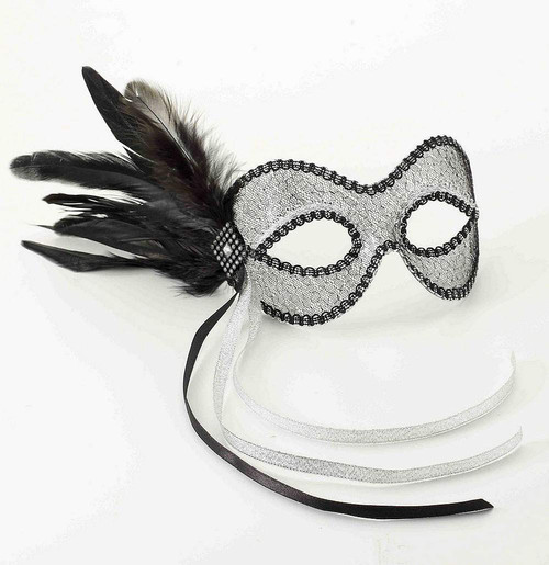 Venetian Black & White Mask