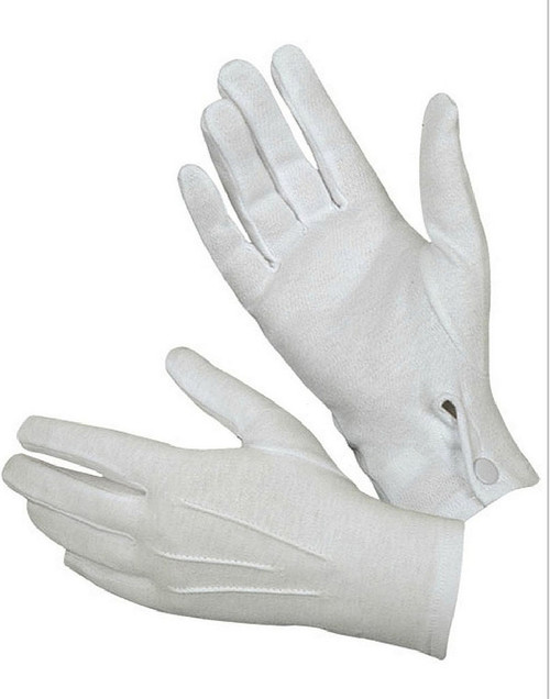 White Gloves with Snaps
