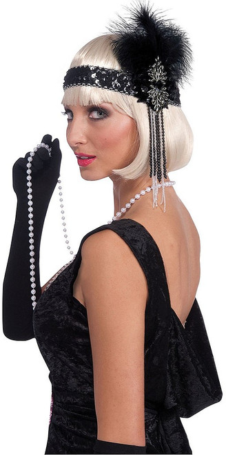 Flapper Black Headband