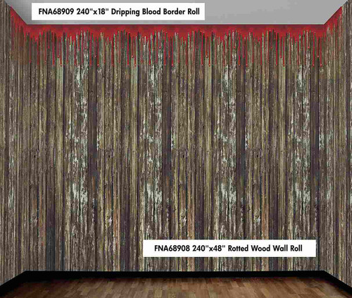 "240""x48"" Rotted Wood Wall Roll"
