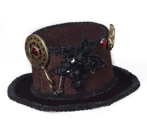 Mini Steampunk Hat with Gears