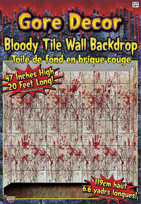 Bloody Tile Wall Decor