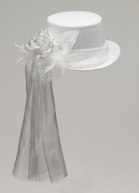 Ghostly Rose Top Hat White