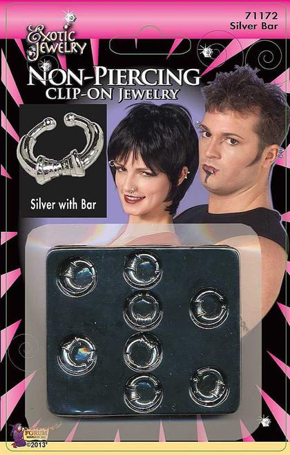 Clip-on Body Piercing Silver