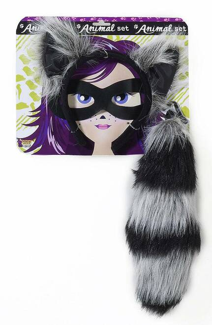 Raccoon Tail & Ears Kit