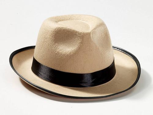 20's Beige Fedora Hat