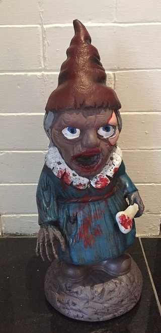 Female Zombie Garden Gnome 16""