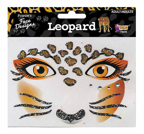 Leopard Glitter Face Tattoos