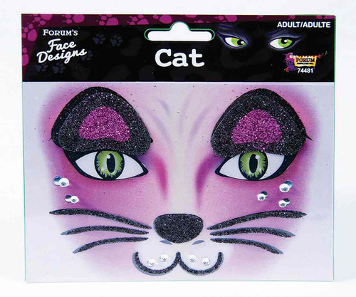 Cat Glitter Face Tattoo