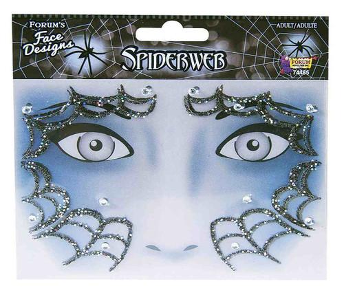 Spiderweb Glitter Face Tattoo