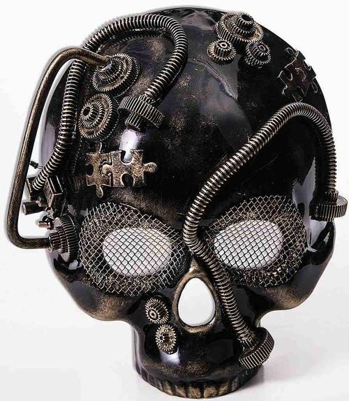 Gold Skull Mask Steampunk