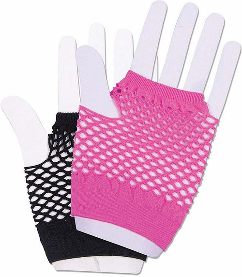 Harlequin Short Fishnet Gloves