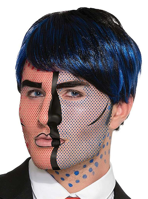 Pop Art Face Tattoos