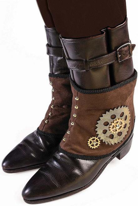 Steampunk Short Spats Brown