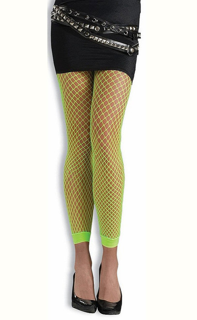 Footless Neon Fishnets