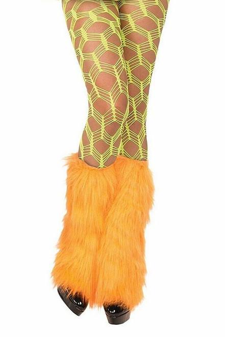 Fishnet Pantyhose  Neon Green