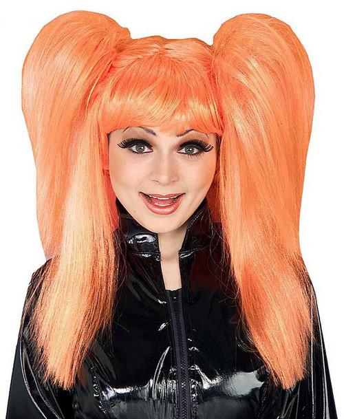 Comic cutie orange wig