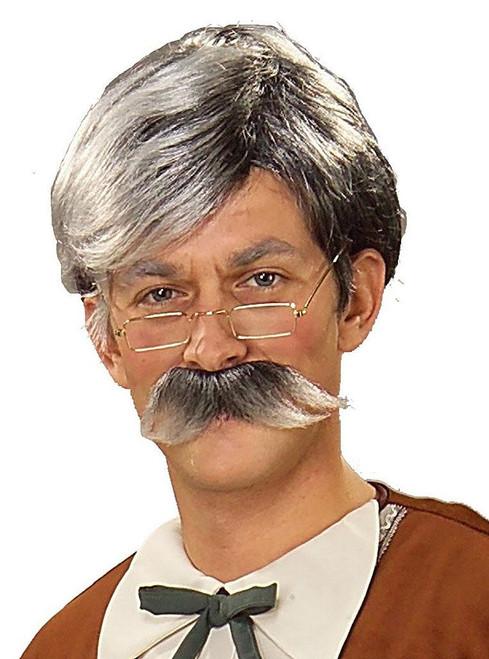 Gepetto Grey Wig & Mustache