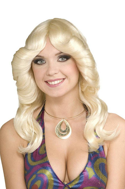 70's disco Doll Blond wig