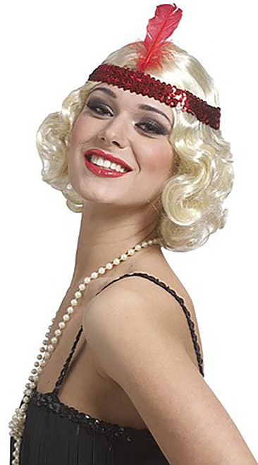 Curly Flapper Blonde Wig