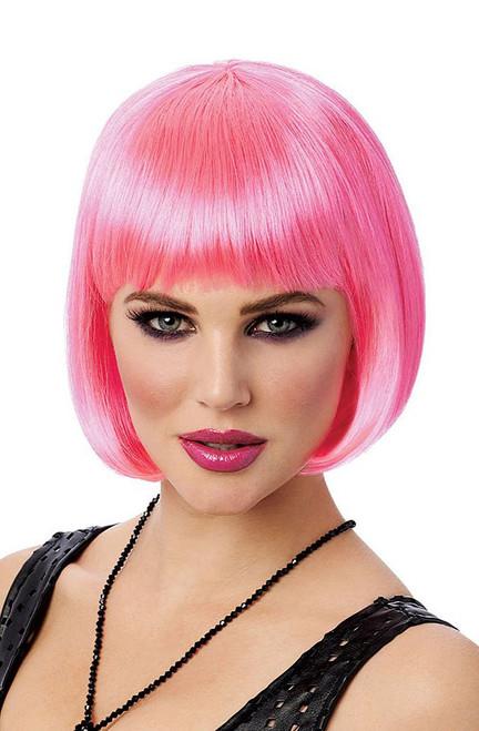 Hot Pink Bob Wig