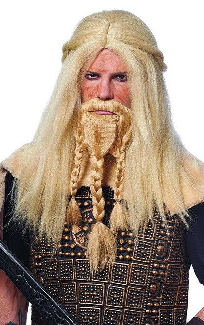 Viking Blonde Wig & Beard