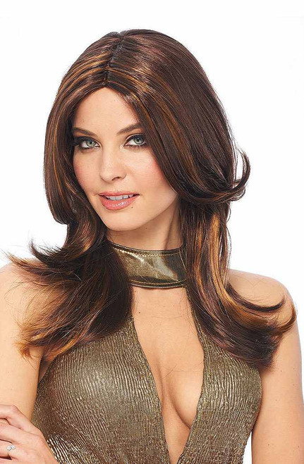 70's Style Brown Wig