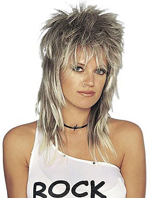 Unisex Rocker Long Blonde Wig