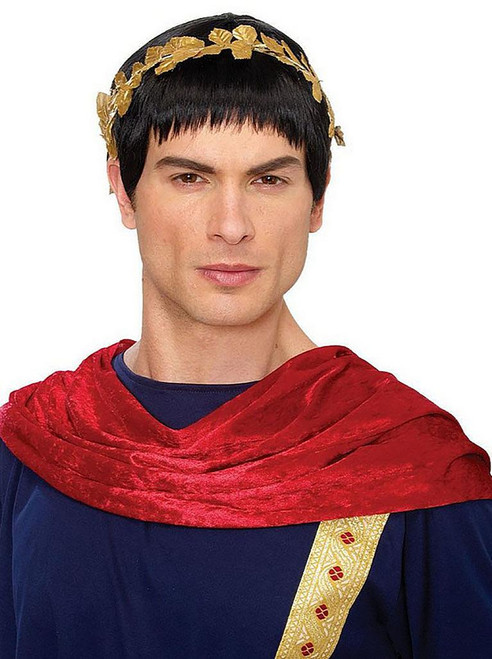 Roman Ceasar Black Wig