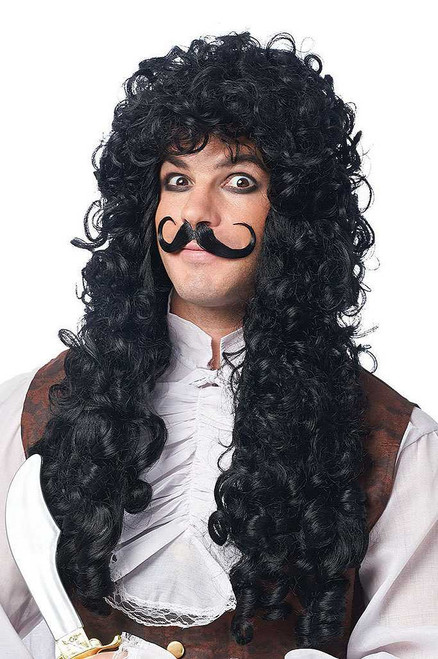 Captain Hook Black Wig/Moustache