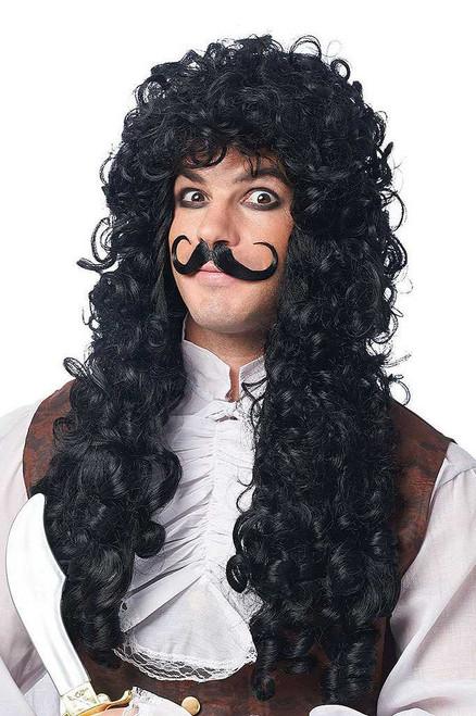 Captain Hook Black Wig/Moustache