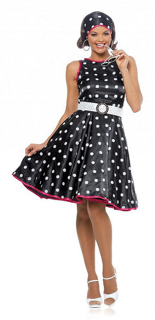 Hot 50s Black Costume