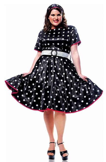 Hot 50s Black Costume Plus