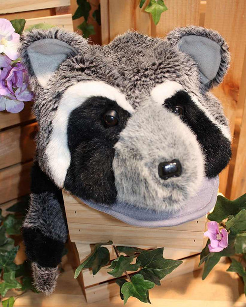 Plush Raccoon Head Hat