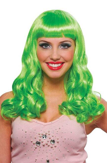 Green Party Girl Wig