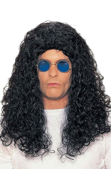 80's Rocker Black Wig Jon Snow