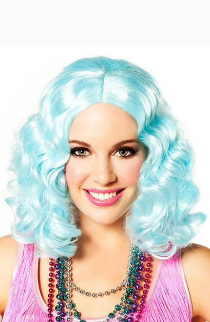 Party Flapper Icy Blue Wig