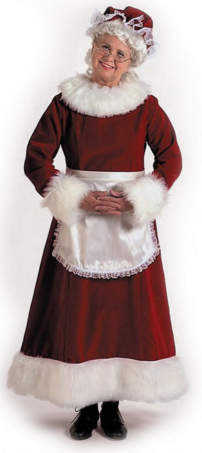 Classic Mrs. Claus Red Costume Deluxe