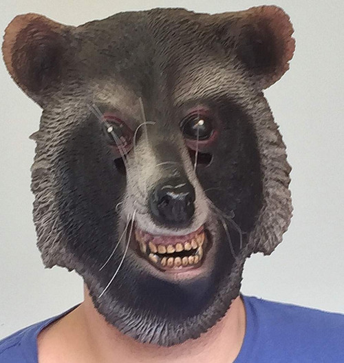 Brown Raccoon Mask
