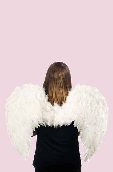 "31"" White Feather Angel Wings"