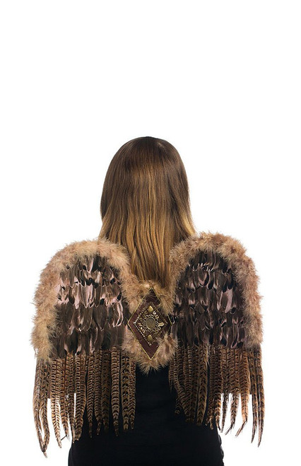 Native Motif Feathered Wings
