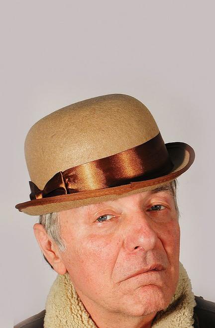 30's Beige Derby Hat