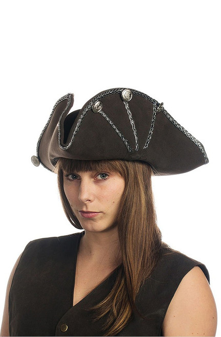 Black Oversized Buccaneer Hat