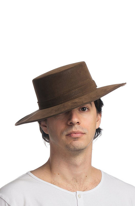 Leatherlike Brown Spanish Hat